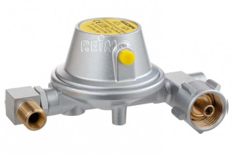 Compact 90° gas reducer